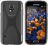 mumbi X-TPU Schutzhülle Samsung Galaxy S5 Mini Hülle transparent schwarz