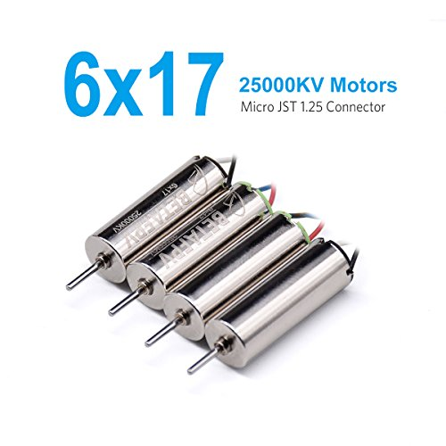 BETAFPV 6x17mm 25000KV Brushed Motors (2CW+2CCW) for Beta65 Blade Inductrix Tiny Whoop Nano QX Quadcopter Frame etc
