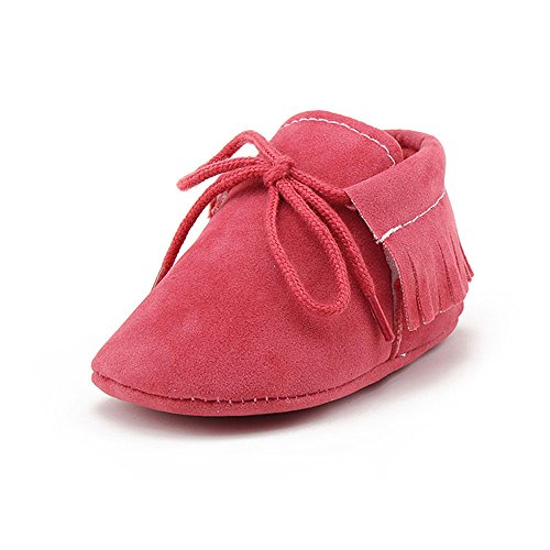 677ad1af7 DELEBAO Zapatos de Niño Botas Gamuza Cuero Bebé Zapatillas para Bebe ...