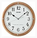 Seiko Unisex Wanduhren Holz weiß QXR208Z
