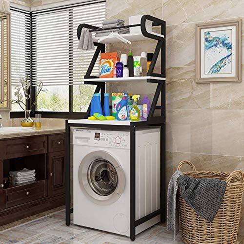 XYJZW Regal Wäscheständer, Badezimmerständer, Multifunktionsständer for Badezimmer Platzsparende Lagerregale mit dreistufigem Lagerregal, for Waschmaschinen geeignet (Color : 5)