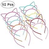 Descripción:Este artículo es un paquete de 10 unidades de diademas con orejas de gato para mujeres y niñas en diferentes colores. Quedan bien a la mayoría de mujeres y niñas; la superficie es lisa con una fila de dientes para que queden bien ...