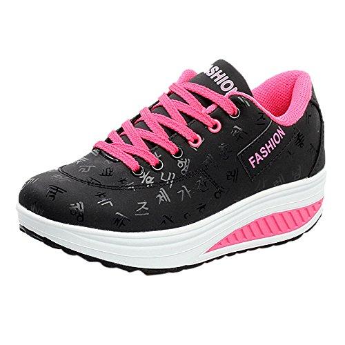 LANSKRLSP Scarpe Sneakers estive Eleganti Donna Scarpe da Ginnastica Donna Scarpe da Corsa Donna Sportive Scarpe da Lavoro Donna Scarpe Donna Stringate - Donna Scarpe Moda Sportive 35-42 (36, Nero)