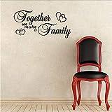 Sticker Mural 82Cm * 40Cm Ensemble Nous Faisons Une Famille Avec Des Coeurs Pour La...