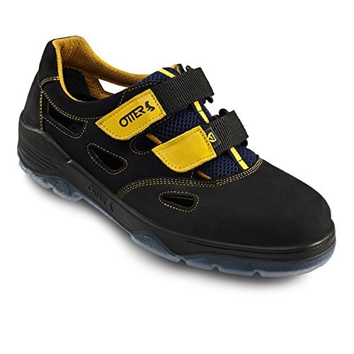 Otter Schutz GmbH - Calzado de protección de cuero para hombre negro Schwarz-Gelb, color negro, talla 41