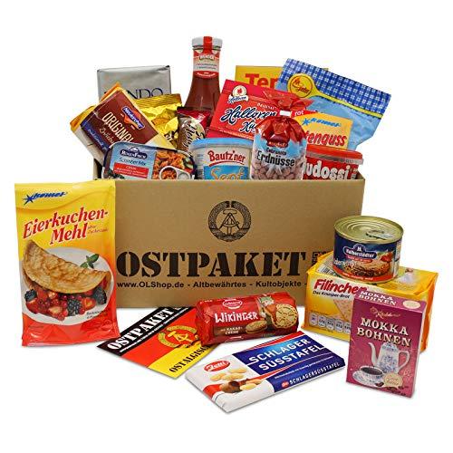 Ostpaket Lebensmittel mit 19 Produkten Spezialitäten Spezialitätenpaket Geschenkidee DDR-Paket Nostalgie Ostkarton Geschenke aus dem Osten Geschenkset Ostprodukte