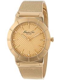 Kenneth Cole IKC4909 , Reloj para mujer con correa de malla, color dorado / gris