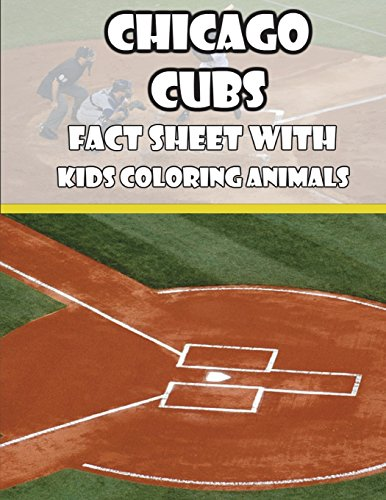 Chicago Cubs Fact Sheets with Kids Coloring Animals por Mega Media Depot