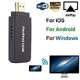 SO-buts Wireless Adapter/Wifi Adapter/Dual Core 1.2G + 128M Wireless Display Player/1080P HD für PC/Smartphone/iPad/TV/Projektor (Schwarz)