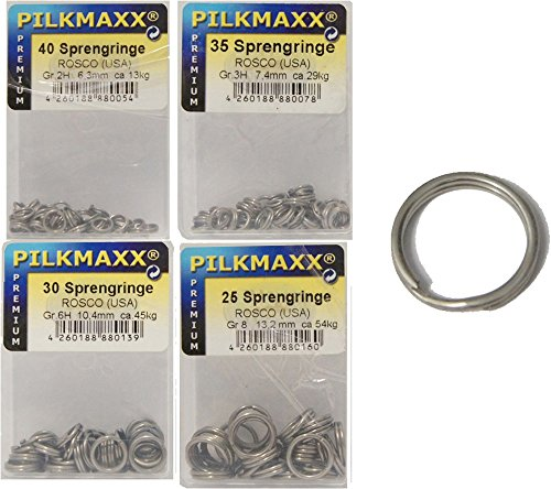 Rosco Sprengringe Set 6,3/7,4/10,4/13,2mm Edelstahl, Sprengring, rostfrei, Springringe