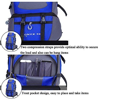 Cuckoo 38L Unisex Nylon Wasserdichte Durable Travel Wandern Rucksack Outdoor Daypack mit Regenhülle Orange