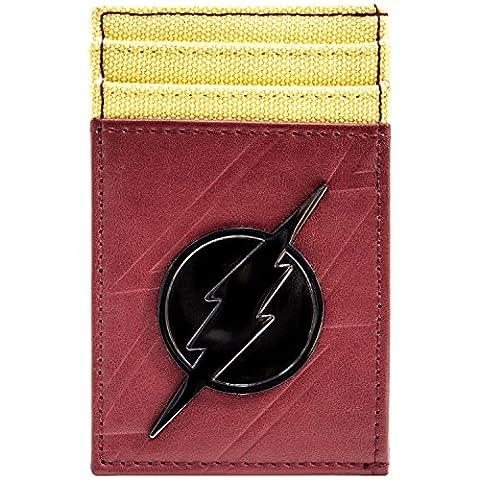 The Flash Metallabzeichen Blitzsymbol Rot Portemonnaie Geldbörse (Zoom Film Kostüm)