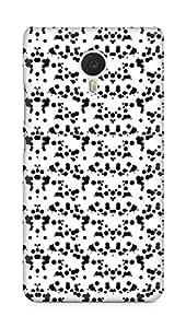 Amez designer printed 3d premium high quality back case cover for Meizu M3 Note (Black n White Pattern12)
