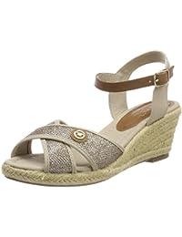 Tom Tailor Tom TAILOR4896215 - Sandali con Tacco Donna amazon-shoes grigio Estate