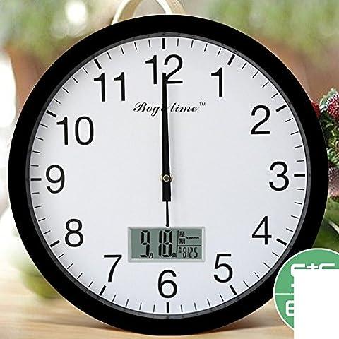 Orologio calendario radio/Tabella di tempo automatico/Orologio elegante, minimalista-B 14pollice