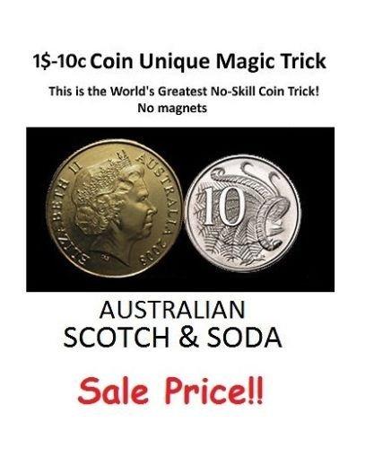 $1-10c Australische Dollar Münze Einzigartige Zaubertrick / Australische Schottische und Soda