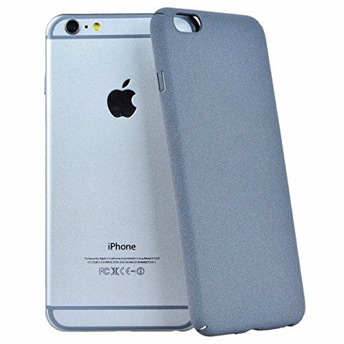 Coque iPhone 6, GrandEver Housse iPhone 6S Gris Etui Couverture Rigide + villosités Back Cover Plastique Solide Simple PC Hard Cover Haute qualité Protection Coquille Cas Protective Cases pour Apple i Gris