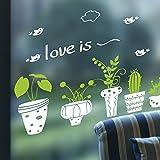 Japace® Protección de Ojo Plantas en Maceta Pegatina de Pared Vinilo Adhesivo Decorativo para Sala, Dormitorios