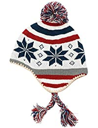 6e95bea5b8d75 connectyle boys girls knit kids hat fleece lined earflap beanie hat warm  winter beanies skull cap