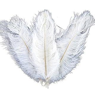 ZREAL 10 Pcs Plumes d'autruche Ostrich Feathers Plume Décoration de table de mariage 30-35cm