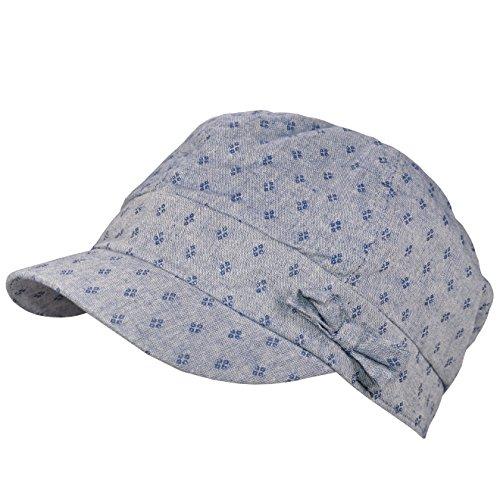 Damen - Ballonmütze Schirmmütze Sommercap Schildmütze Kappe Strandmütze - 679060 (Blau)