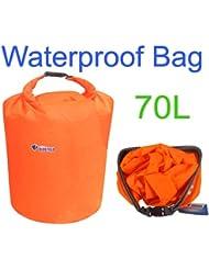 asmaza (TM) 70L impermeable bolsa seca para canoa Kayak Rafting de acampada talla L