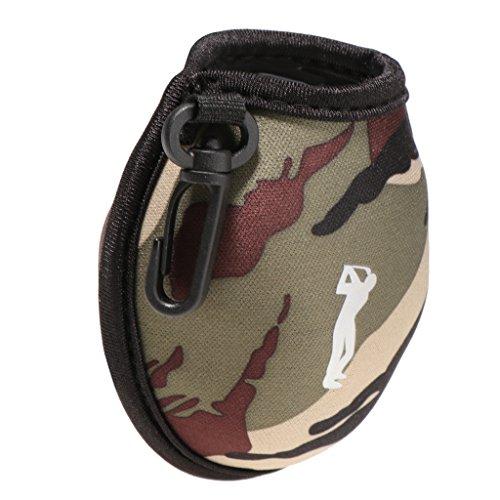 Sharplace Mini Sac Poche de Golf en Neoprene pour 2 Standard Balles de Golf avec Pince de Ceinture...