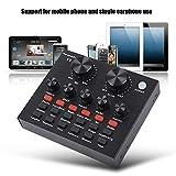 Acogedor Mixeur Audio numérique,Carte Son Externe - 112 Types d'électroacoustiques, 18 Types d'Effets sonores et 6 Modes d'Effets 7 Types de méthodes de Connexion,avec Un câble USB