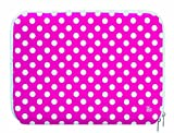 Pat Says Now Polka Dot Sleeve für Notebook bis 43,1 cm (17 Zoll) pink/weiß