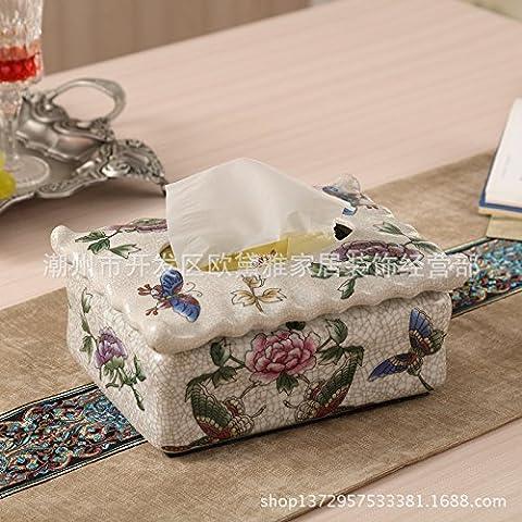 Ceramica ad alta temperatura scatola di carta europea di lusso classico desktop di casa-tray