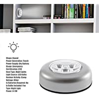 No requiere cableado Real Touch Control Lámpara de noche 3 LEDs Inalámbrico Stick Tap Taprobe Touch Lamp Con pilas