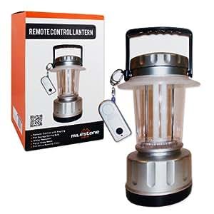 Milestone Camping 5W Fluorescent Lantern With Remote Control - Silver