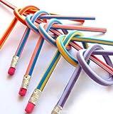 30pcs Soft Flexible Bendy Pencils Magic Bend Kids Children School Fun Equipment