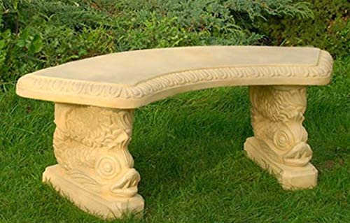 Casa Padrino Gartenbank/Parkbank Sandfarben 138 x 45 x H. 49 cm - Gebogene Garten Sitzbank im Orientalischen Stil - Gartenmöbel