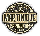 Martinique Quality Label Autocollant Voiture Decoration de Vinyle 12 X 10 cm