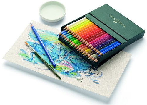 Faber-Castell 117538 – Estuche estudio con 36 ecolápices acuarelables, multicolor
