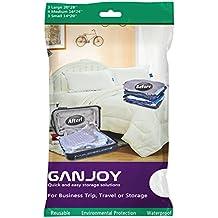ganjoy Confezione da 10sacchetti salvaspazio da viaggio, a compressione Storage no vuoto necessario per viaggi e vacanze