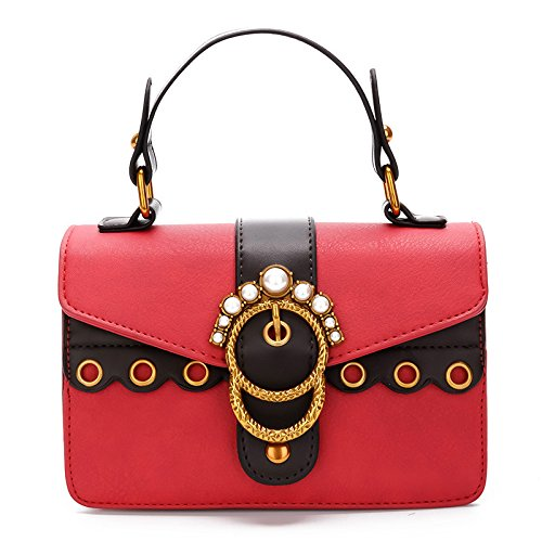 GUANGMING77 Unica Borsa A Tracolla Lady _ Spalline Larghe Borsa A Tracolla,Gules gules