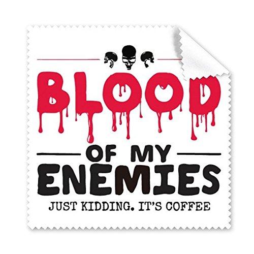 Zombie biochemischer Horror Bloody Kidding Thema Englisch Geschenk Gläser Tuch Reinigungstuch Geschenk Handy-Display von 5x