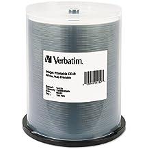 Verbatim CD-R 80MIN 700MB 52X White Inkjet Printable, Hub Printable 100pk Spindle CD-R 700MB 100pieza(s) - CD-RW vírgenes (Hub Printable 100pk Spindle, CD-R, 700 MB, 100 pieza(s), 120 mm, 80 min, 52x)