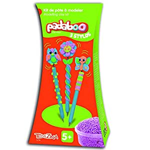 Padaboo PMZ904 Kit de 3 Stylos fantaisie à customiser Pâte à modeler Multicolore 10,5 x 20 x 7,5 cm