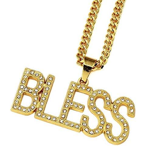Nyuk–bendiga 18K oro collares cadena joyas colgantes cadenas colgante collar de aleación de zinc
