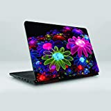 Gifty Ads PVC Coated Laptop Skin Vinyl Stickers For 15.6 Inches Laptop || 3D Flowers Multicolor Skin Sticker || Compatible With Dell, Hp, Lenovo, Toshiba, Acer, Asus And For All Models (15.6 X 11.6 Inches)