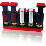 Finger Master Hand Strengthener ✠ Best Exerciser for Arthritis Therapy and Grip & Finger Strengthening Whether for Guitar Practice, Rock Climbing Training, Fitness & Other Sports as well as Trigger Finger Training (Great for Adults & Kids)