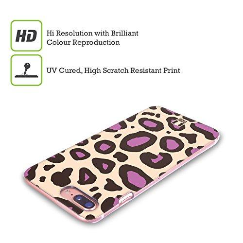 Head Case Designs Tigre Corallo Stampe Pazze 2 Cover Retro Rigida per Apple iPhone X Porpora Neutro