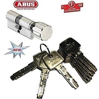 ABUS - EC550 Profil-Cylindre à bouton Longueur Z40/K40mm avec 8 Clés