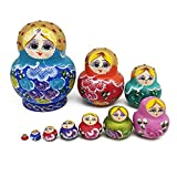 FOONEE Russian nested dolls, Matryoshka toy handmade wood Multicolor A variety of styles Matryoshka Toys Hand-painted doll Toy Decoration wood dolls Game 5 / 10 pieces