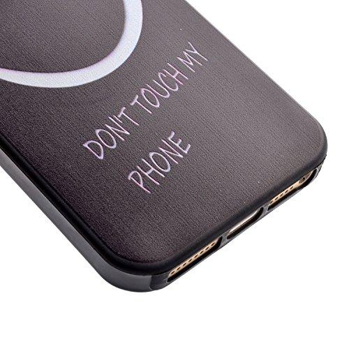 Coque iPhone SE,Coque iPhone 5S,Coque iPhone 5,TPU Case Cover Étui pour iPhone SE / 5S / 5,ikasus® Coque iPhone SE / 5S / 5 Silicone Étui Housse Téléphone Couverture TPU avec Motif peint coloré Ultra  Sourire noir