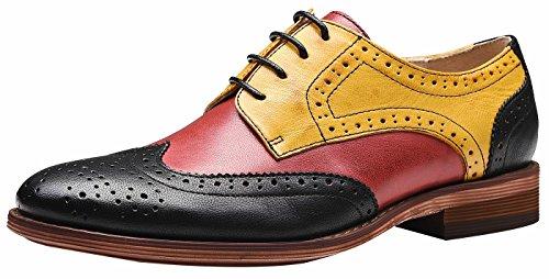 Billig Wingtip Schuhe - SimpleC SimleC Damen Perforierte Schnüren Wingtip