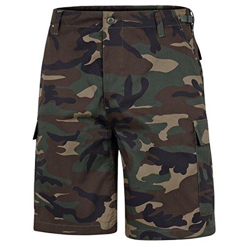 BlackSnake® US Army Ranger Shorts BDU Cargo kurze Hose - M - Woodland (Army Bdu Us)